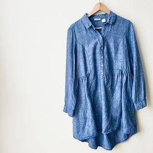 Beacan Cove Blue Linen Dress